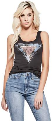 Factory Guess Women's Rosie Triangle Logo Tank