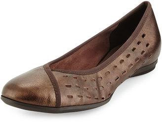 Sesto Meucci Aura Lasercut Leather Flat, T Moro $159 thestylecure.com