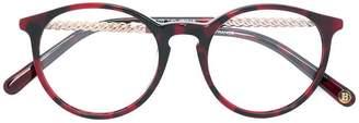 Balmain round frame glasses