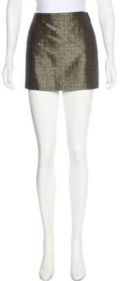 Saint Laurent Wool Blend Tweed Skirt