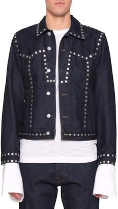 Dries Van Noten Indigo Studded Cotton Denim Jacket