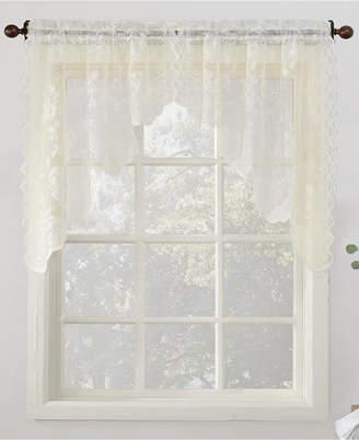 "Lichtenberg No. 918 Alison Floral Lace 58"" x 38"" Rod-Pocket Kitchen Curtain Swag Pair"