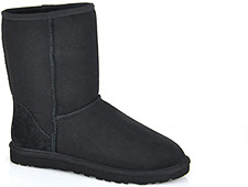 UGG Australia - Classic Short - Black Suede/Shearling Boot