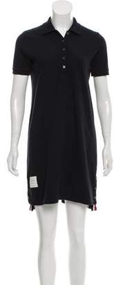 Thom Browne Short Sleeve Knee-Length Dress