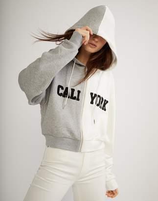 Cynthia Rowley CaliYork Cropped Zip Up Hoodie