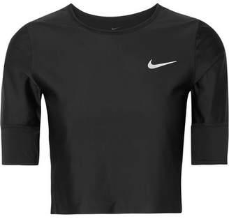 Nike Run Division Cropped Dri-fit Stretch Top - Black