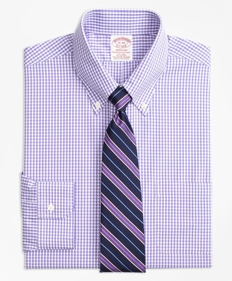 Brooks Brothers Stretch Madison Classic-Fit Dress Shirt, Non-Iron Gingham