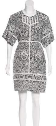 IRO Print Short Sleeve Dress