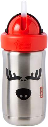 Tommee Tippee Stainless Steel Tuff Stuff Straw Cup, 10 Ounce, 1 Count (Colors will vary)