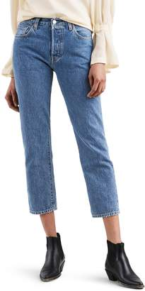 Levi's 501(R) High Waist Crop Skinny Jeans