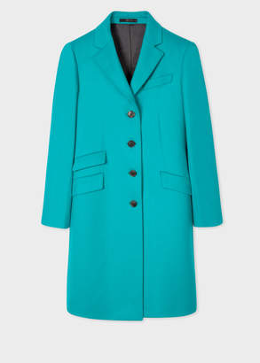 Paul Smith Women's Turquoise Wool And Cashmere-Blend Epsom Coat