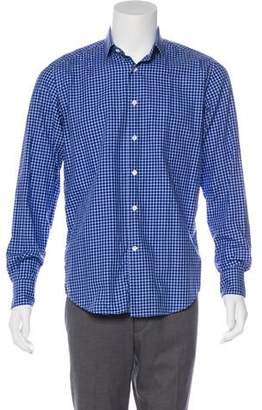 Lanvin Plaid Dress Shirt