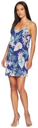 American Rose Kinsley Spaghetti Strap Tropical Dress Women's Dress