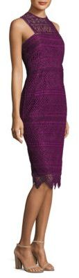 Trina Turk Vitality Lace Sheath Dress $348 thestylecure.com
