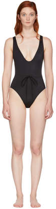 Solid and Striped Black The Michelle Tie Swimsuit