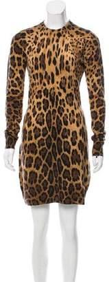 Dolce & Gabbana Cashmere Leopard Print Dress