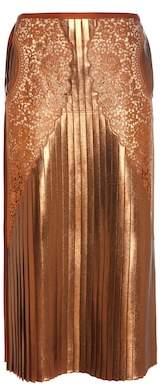 Stella McCartney Lace and lamé skirt
