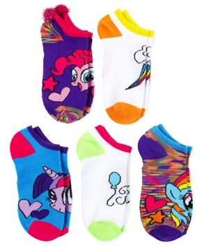 My Little Pony No Show Socks, 5 Pairs (Little Girls & Big Girls)