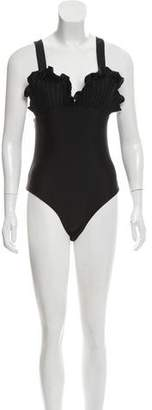 Paper London Textured One- Piece Swimsuit w/ Tags