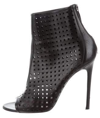 Barbara Bui Perforated Peep-Toe Ankle Boots