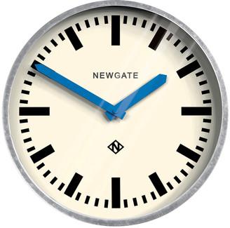 Newgate Clocks - The Luggage Galvanised Wall Clock - Blue Hands