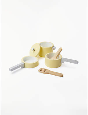 John Lewis Wooden Pots and Pans Toy Set