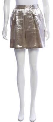 Stella McCartney Metallic Linen Skirt Gold Metallic Linen Skirt