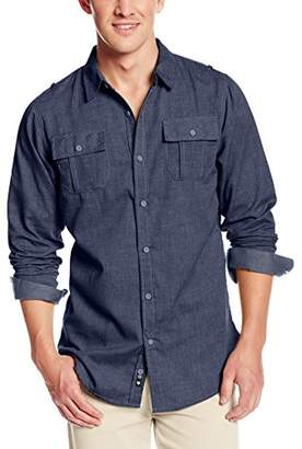 Burnside Men's Locked Long Sleeve Woven Shirt