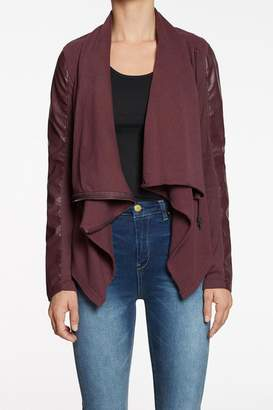 Blank NYC BlankNYC Oxblood Draped Jacket