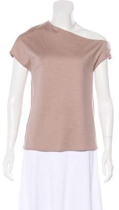 Tibi One-Shoulder Wool Top