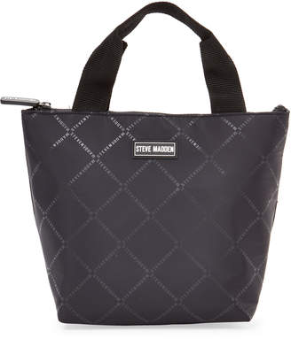 Steve Madden Black Logo Insulated Lunch Tote