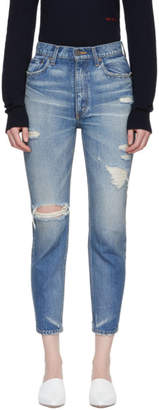Moussy Vintage Blue Powell Boy Skinny Jeans