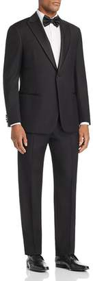 Emporio Armani Black Regular Fit Peak-Lapel Tuxedo