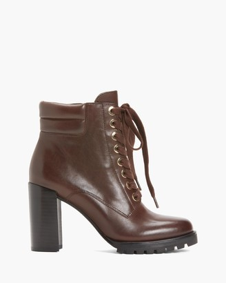 Paige NICOLE BOOT IN LEATHER-BROWN