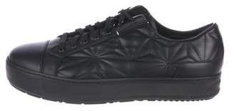 Neil Barrett Quilted Leather Sneakers