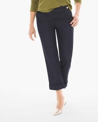 Platinum Cuffed Crop Jeans