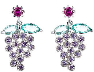 Eye Candy Los Angeles Cz Milan Grape Drop Earrings