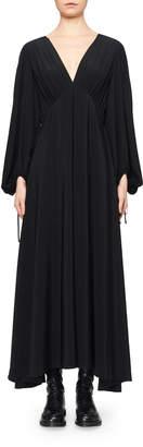 The Row Sante V-Neck Empire-Waist Silk Dress