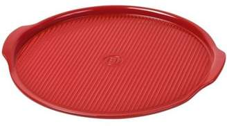 Emile Henry Stoneware Ridged Pizza Stone In Red 37Cm Eh476147