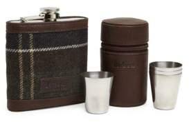 Barbour Five-Piece Tartan Hip Flask Set