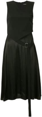 Neil Barrett layered look asymmetric dress