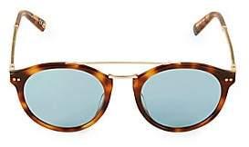 Web Men's 50MM Round Sunglasses