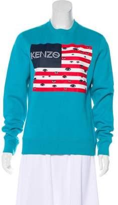 Kenzo Printed Crew Neck Sweatshirt