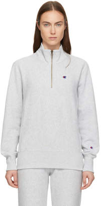 Champion Reverse Weave Grey Half-Zip Sweatshirt