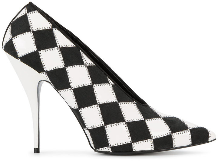 Stella McCartney check pointed toe pumps