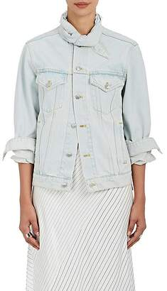 "Balenciaga Women's ""Scarf"" Denim Jacket"