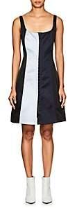 CFGOLDMAN Women's Silk Satin Corset Minidress
