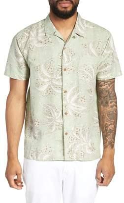 YMC Malick Slim Fit Print Sport Shirt