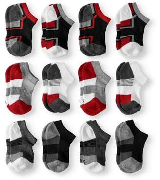 Athletic Works No Show Socks, 12 Pairs (Little Boys & Big Boys)