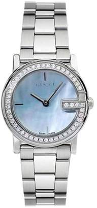 Gucci YA101514 Stainless Steel Blue Mother of Pearl Dial 28mm Womens Watch